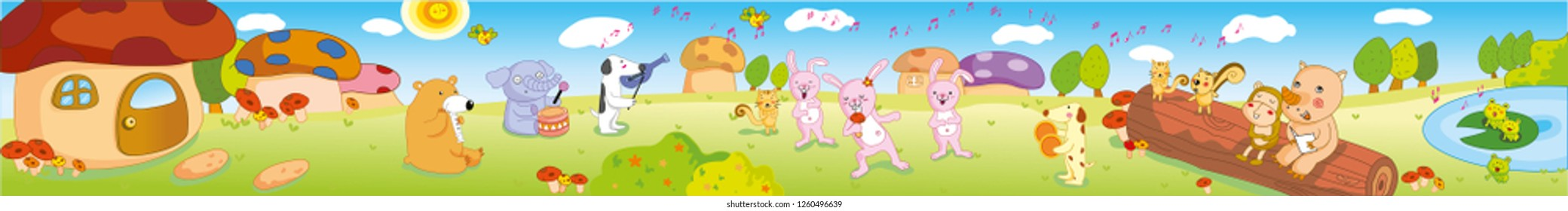 Cute animals, play background