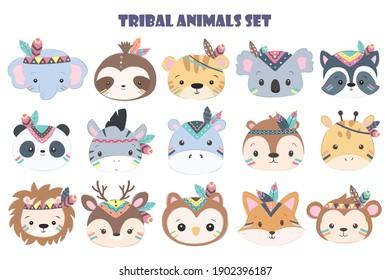 cute animals, watercolor illustration, animals illustration, animal clipart.