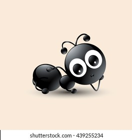 Cute Ant cartoon sleeping