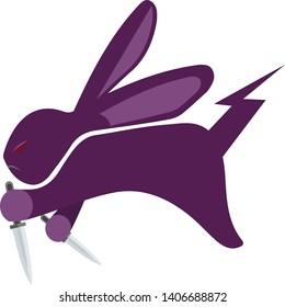 cute assasin rabbit double dagger