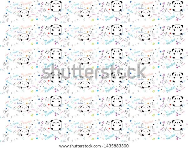 Cute Attractive Abstract Panda Design Concept Stock Vector