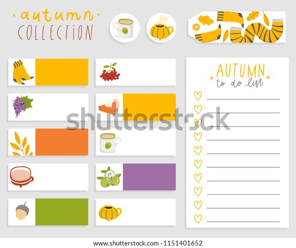 Cute Autumn Do List Template Note Stock Vector (Royalty Free