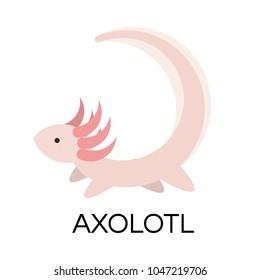 Cute axolotl logo element