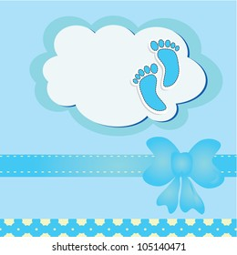 Cute baby arrival card/ Vector illustration