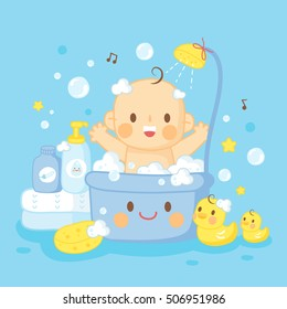 cute baby bath shower