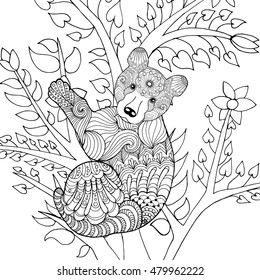 Panda Bear Coloring Pages Images Stock Photos Vectors