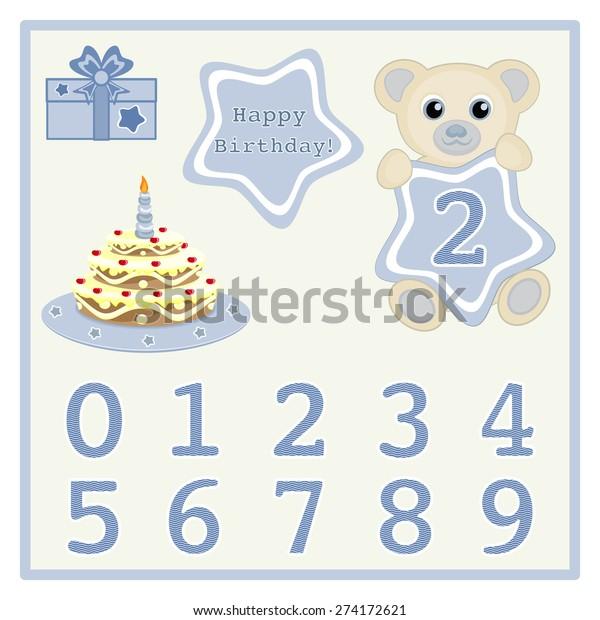 Sensational Cute Baby Boy Bears Vector Illustration Stock Vector Royalty Free Birthday Cards Printable Nowaargucafe Filternl