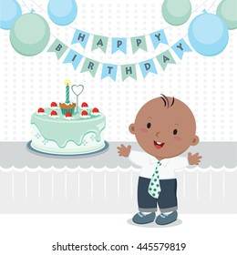 birthday party vector illustration kid birthday のベクター画像素材