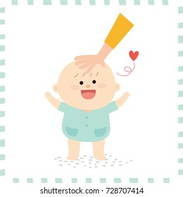 cute baby boy. vector illustration