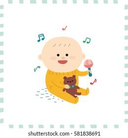 cute baby boy.vector illustration