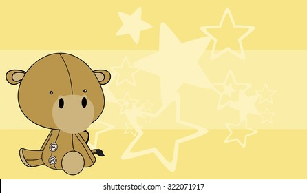 cute baby camel cartoon background in vector format
