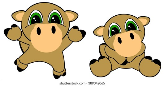cute baby camel cartoon jumping sit set in vector format very easy to edit