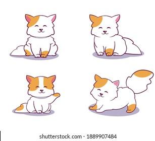 cute baby cat illustration vector
