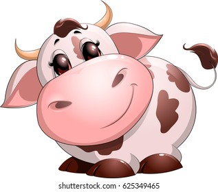 Cute baby cow cartoon