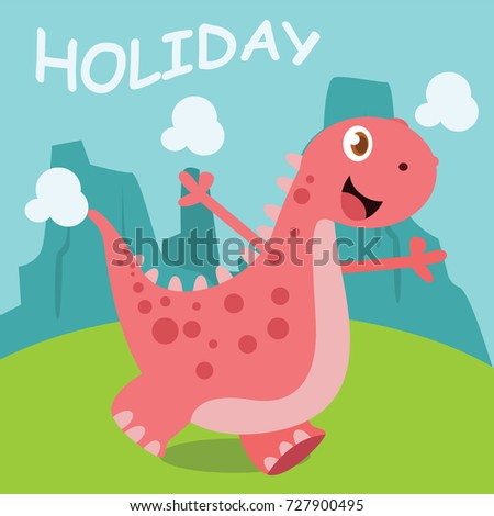 cute baby dinosaur design template series stock vector royalty free