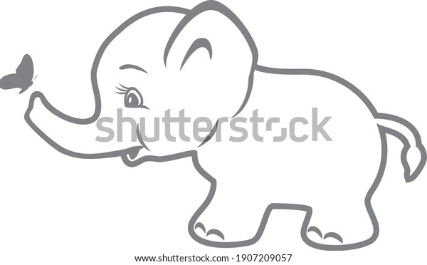 cute-baby-elephant-butterfly-vector-600w