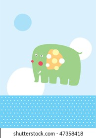 cute baby elephant greeting card