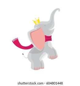 Elephant With Crown Images Stock Photos Vectors Shutterstock 129 free images of cartoon elephant. https www shutterstock com image vector cute baby elephants crown scarf 604801448
