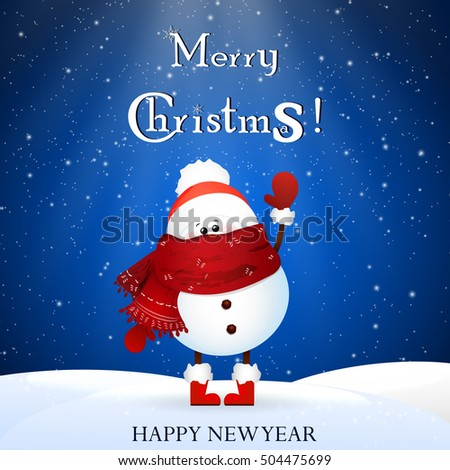 14dff49ffbf03 Cute Baby Funny Snowman Scarf Red Stock Vector (Royalty Free ...