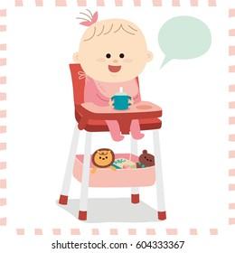 cute baby girl.vector illustration
