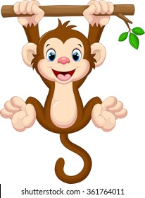 monkey clipart images stock photos vectors shutterstock rh shutterstock com baby monkey clip art free baby monkey clip art free