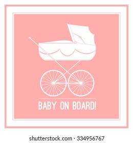 Cute baby on board sign