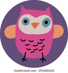 cute baby owl design vector
