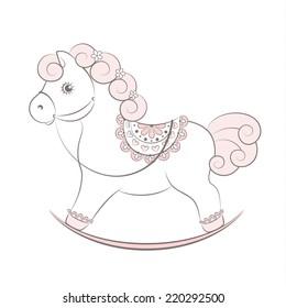Imágenes, fotos de stock y vectores sobre Rocking Horse Toy ...
