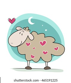 Cute baby sheep design