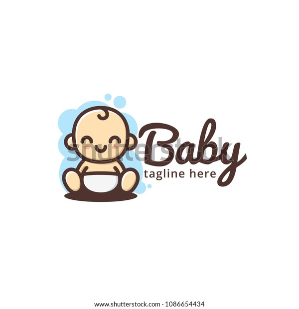 Cute Baby Smile Logo Template Stock Vector (Royalty Free) 1086654434