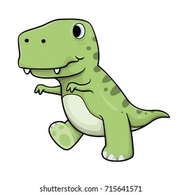 cute baby tyrannosaurs rex vector cartoon illustration