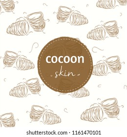 Cute background about butterflies cocoons