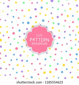 Cute background with colourful circles pattern