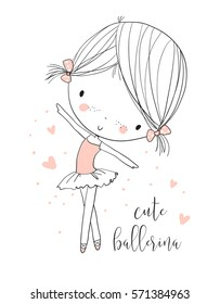 Cute ballerina girl.