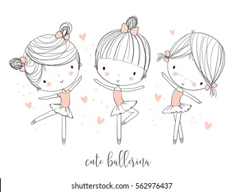 Cute ballerina girls.