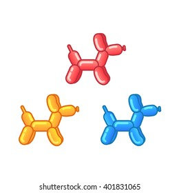 Cute Balloon Animals. Vector. Label, sticker.