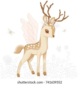 cute bambi vector graphic