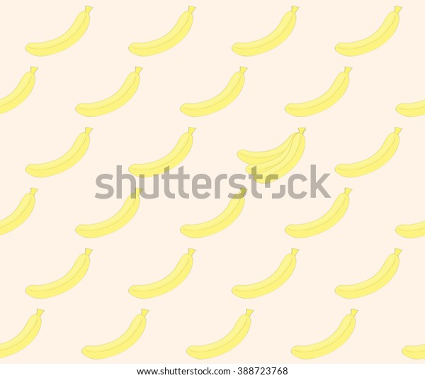 Cute Banana On Smooth Pink Pastel Stock Vector Royalty Free