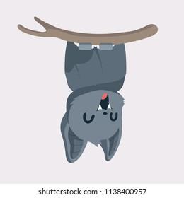 Cute bat cartoon.