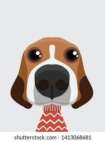 Cute Beagle dog.Childish print for nursery,kids apparel,poster,postcard.