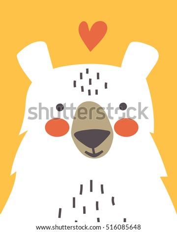 cute bear card heart happy valentines stock vector royalty free