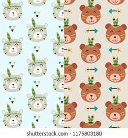 Cute Bear Pattern Background