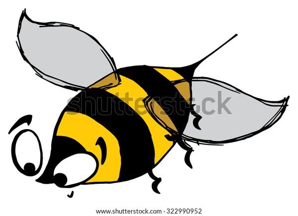 Cute bee drawing, honey bee
