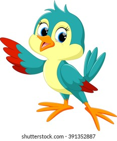 Cute bird cartoon