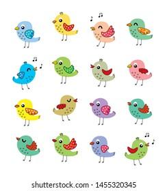 cute bird graphic vector collection