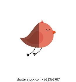 cute bird isolated icon