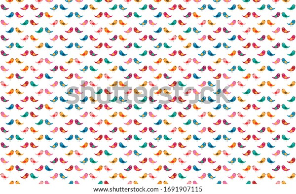 Cute bird vector with bright and colorful combination of colors