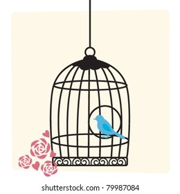 Cute birdcage background