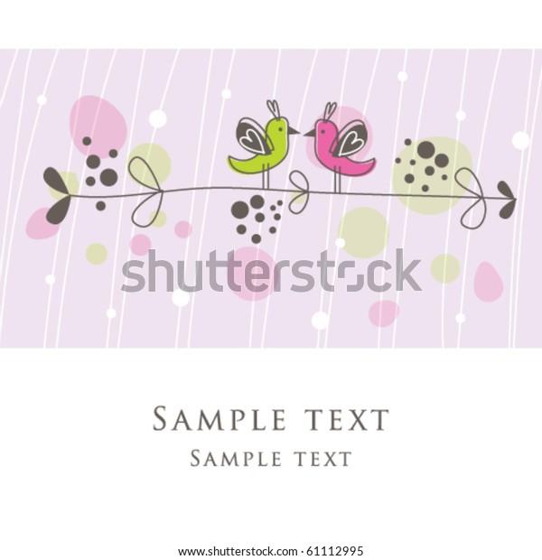 Cute Birthday Card Copy Space Simple Stock Vector Royalty