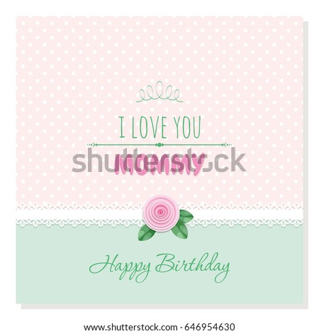 Cute Birthday Card Love You Mommy Stock Vector Royalty Free